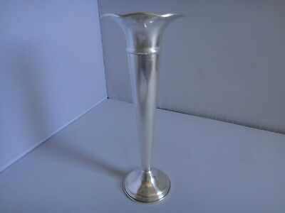 Sterling Silver Trumpet Vase Waved Empire 8 Inch Weighted