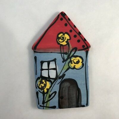 CERAMIC HOUSE - Blue - 100x63mm ~ Mosaic Inserts, Art, Craft Supplies