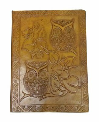 Diary Journal Notebook Vintage Book Owl Leather Classic Cover Antique Blank