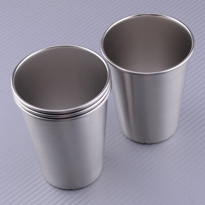 4pcs stainless steel outdoor camping mini cup mug drinking coffee beer mugs new
