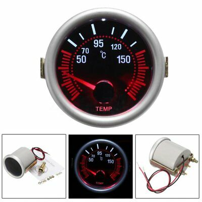 52mm Car Turbo Boost/PSI/Water Oil Temp/Pressure/Tachometer/Volt/Vacuum Gauge c