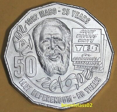 2017 Australian Eddie Mabo Pride and Passion 50 cent coin EX Mint Bag 128m