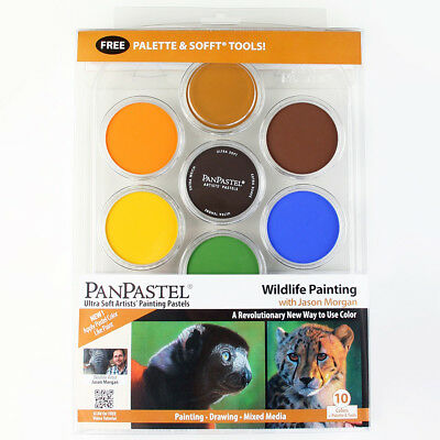 """PanPastel 10 colours set """"WildlIfe Painting"""" portable,low dust, apply like paint"""