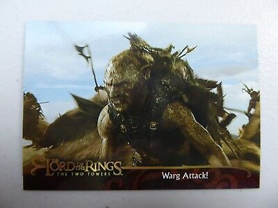 TOPPS Lord of the Rings: The Two Towers - Card #126 WARG ATTACK!