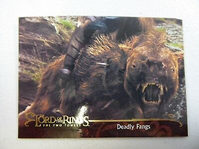 TOPPS Lord of the Rings: The Two Towers - Card #127 DEADLY FANGS
