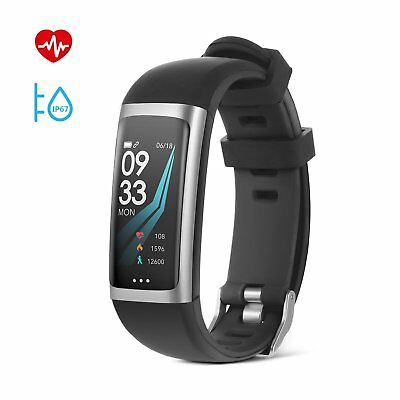 Smart Armband Smartwatch Fitness Tracker Pulsuhr Blutdruck Uhr Wasserdicht IP67