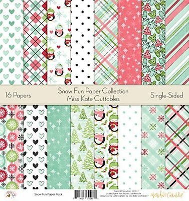 "Pattern Paper Pack - Snow Fun - Scrapbook Card Stock Single-Sided 12""x12"" Collec"