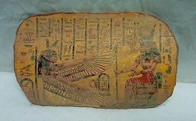 RARE ANCIENT EGYPTIAN ANTIQUE POTTERY FRAGMENT ISIS and OSIRIS