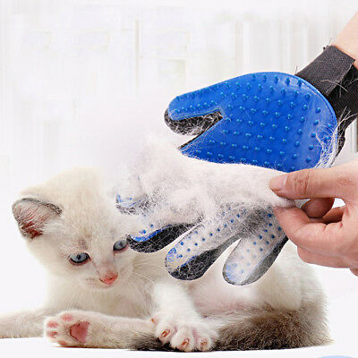 Pet Glove Dog Cat Bath Grooming Cleaning Brush Massage Gloves Hair Remover