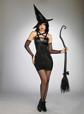 Dreamgirl Wicked Witch Scopa Nero Donne Adulte Costume Halloween 10663