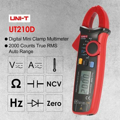 UNI-T UT210D Mini Digital Clamp Multimeter True RMS Auto Range DC/AC Voltage 2N