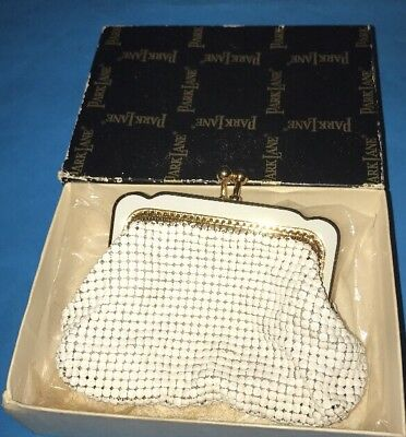 Vintage Park Lane White Mesh Purse