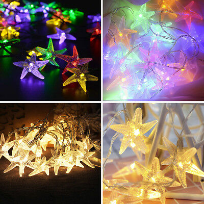 LED Starfish Light Holiday Lamp String Romantic Atmosphere Battery Decoration