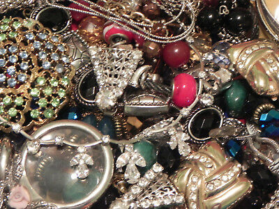 Estate Sale Lot of Vintage to Modern Jewelry, Untested, #702 Some Signed