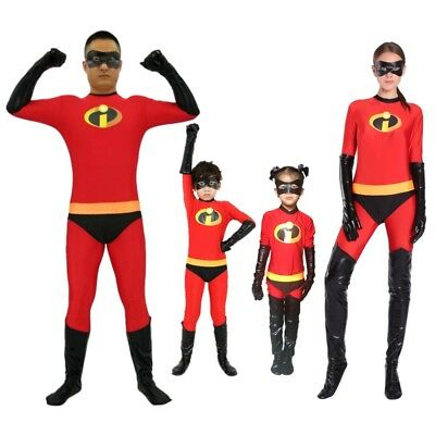The Incredibles Violet Kids Adult  Superhero Costume Halloween Fancy Dress Up