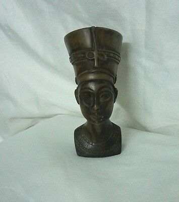 RARE ANCIENT EGYPTIAN ANTIQUE NEFERTITI, HEAD of Nefertiti Stone 1370-1330 BC
