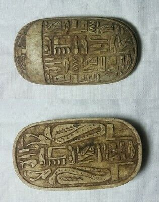 RARE ANCIENT EGYPTIAN ANTIQUE SCARAB Carved Stone 1420-1353 BC