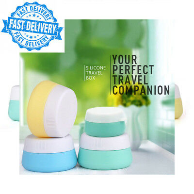 Silicone Cosmetic Containers Cream Jar with Sealed Lids, 3 Pieces (20 ml)