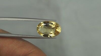 3.80 Ct 13X9 Mm Aaa Quality Natural Yellow Beryl Uk Seller Next Day Shipping