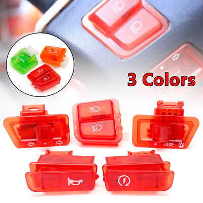 5Pcs Motorcycle Turn Signal Head Light Horn Dimmer Starter Switch Button For GY6