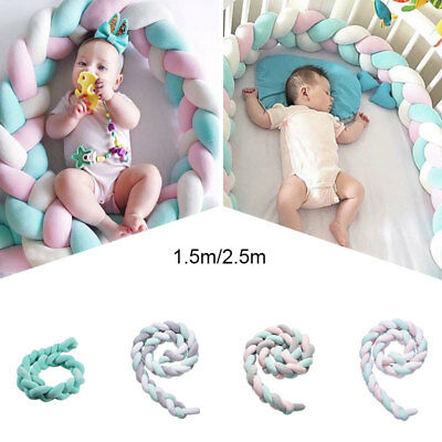 Lovely Baby Soft Knot Pillow Braided Crib Bumper Decorative Bedding Cushion Déco