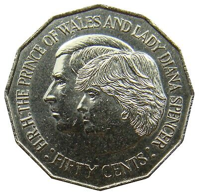 (A22) - Australien Australia - 50 Cents 1981 - Charles and Lady Diana - KM# 72