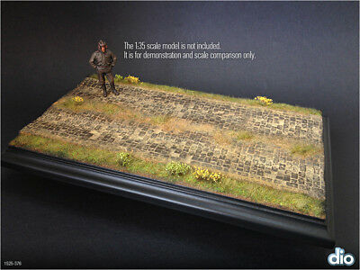 Built & Painted Diorama Base (15x25cm) 1:35 Countryside Cobblestone Section