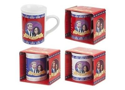 Pack Of 2-2018 Royal Wedding Slim Mugs - Harry Megan Souvenirs - Family Memora