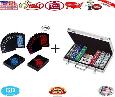 Cardinal Industries 300 ct. Poker Chips 11.5G in Aluminum Case + card Plastic