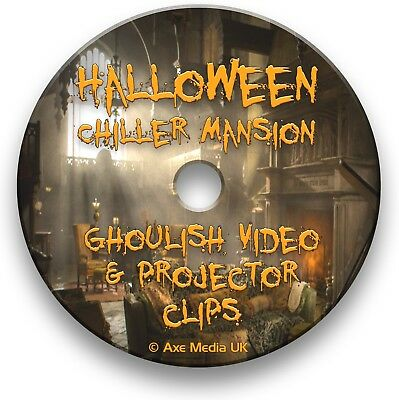 halloween scary scenes dvd ghoulish video clips projector effects sounds