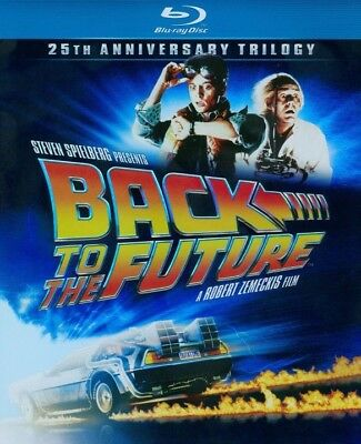 Back to the Future: 25th Anniversary Trilogy (Blu-ray, 3-Disc Set) - Very Good