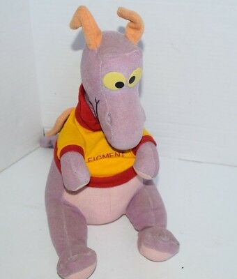 "Vintage Disney Epcot Imagination FIGMENT 14"" Plush California Stuffed Toys"