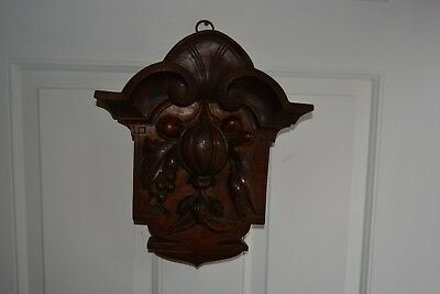 Vintage Wooden Black Forest? Wall Carving