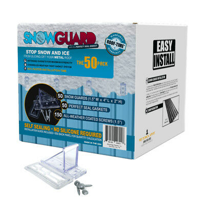 Snow Guard 50-Mini NEW IN BOX Stop Ice Buildup Seal Gasket Metal Roof Mounting