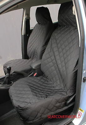 HUMMER H3 - FRONT PAIR of Luxury QUILTED Protectors Car Seat Covers