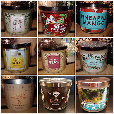 Bath & Body Works Mixture of Large 3 Wick Jars from USA FREE POST Check Us Out😁