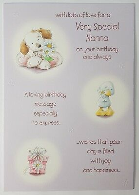 Happy Birthday Card Special Nan Nanny Grandma Grandmother 135cm X 195cm 0092