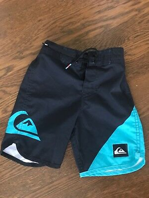 Boys Quiksilver Boardshorts - Size 3T - Black And Blue - New - Stretch Cute!
