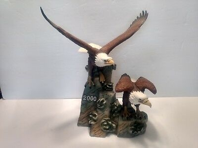 Eagle Porcelain Figurine Isaiah 40:31 2000 Maiden Eagles Club Hour of Power