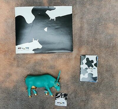 """Cow Parade Figurine - """" Liberty Cow """" ( #7727) - New in Box"""