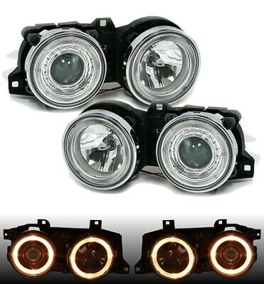 DEPO Lighting ANGEL EYES SCHEINWERFER SET CHROM für 3er BMW E30 11/82-10/94