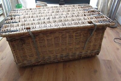 Industrial Vintage Antique Wicker Basket