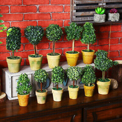 Potted Mini Flower Plant Bonsai for Home Office Garden Cofee Shop Decoration