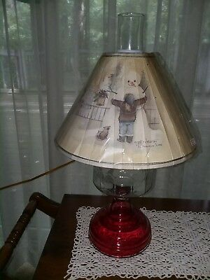Vtg gwtw 20x12 red glass electric oil table lamp snowman lamp vtg gwtw 20x12 red glass electric oil table lamp snowman lamp christmas winter greentooth Images