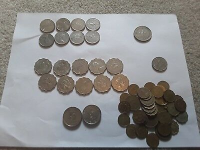 Large Lot Of Over 50 Hong Kong Coins, Oldest From 1951