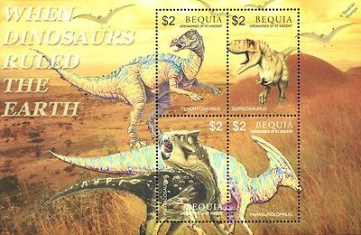 DINOSAURS Mint MNH Stamp Sheet #6 (2005 Bequia, Grenadines of St Vincent)
