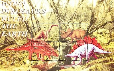 DINOSAURS Mint MNH Stamp Sheet #7 (2005 Bequia, Grenadines of St Vincent)