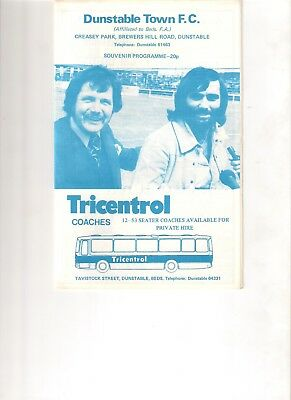 Dunstable v Luton Town 1975 reserves youth programme featuring George Best