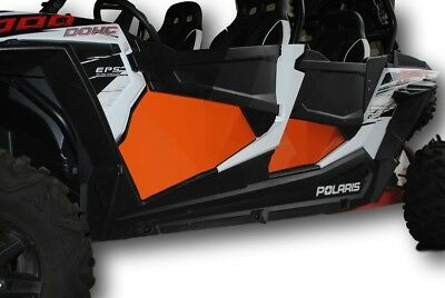 Polaris 2014-2019 RZR Four Door 4D 900 / 1000 / Turbo Lower Door Inserts ORANGE