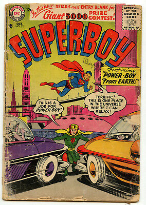 Superboy 52 1956 DC Comics Silver Age Krypton